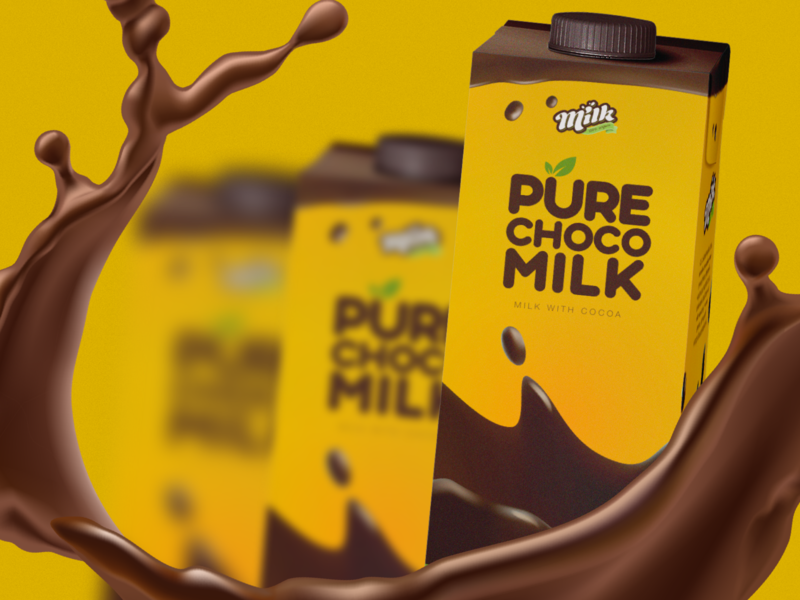 Pure Cholo Milk Package Design package design