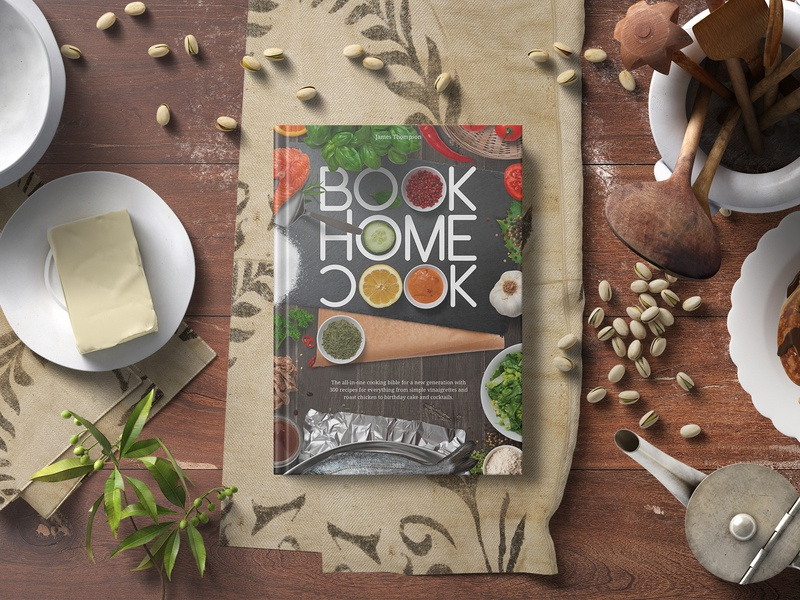 Big Book of Home Cook free font free mockup free product design kitchen book design book art book