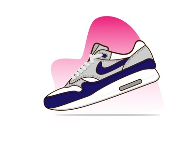 Nike Air Max 1 sport sneakers sneaker shoes nike ux design ui mobile app kicks illustration icon set icon graphic gradient footwear fashion ecommerce online store shop design convers adidas