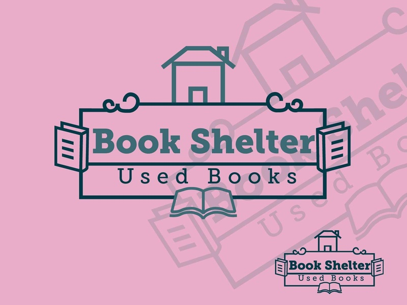 Book Shelter vector brand library book ui ux design corporate identity branding logo