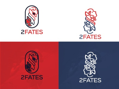 2 Fates wear sports sports logo sport illustration art brand corporate identity branding logo