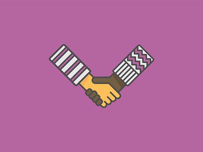 a handshake diversity friendship help icons hands inclusion handshake illustration