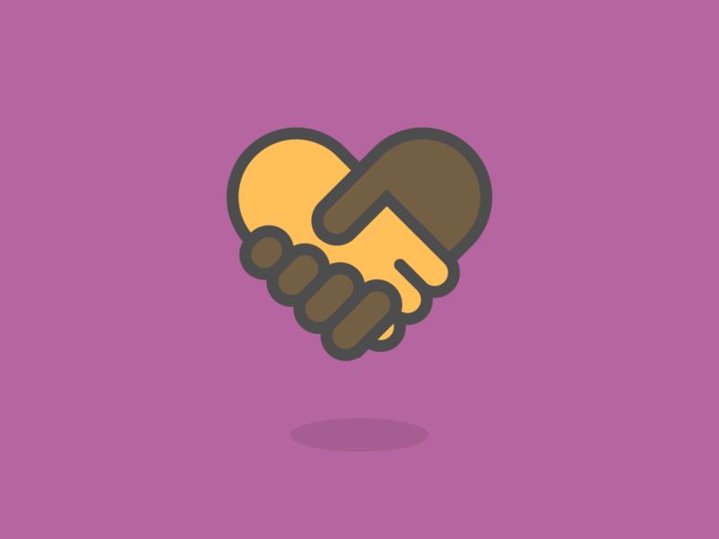 a heart illustrations together friendship illustrator diversity hands handshake line vector heart illustration