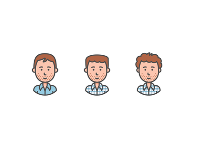 This is what tech looks like avatar white male vector line illustration