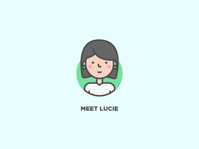Meet Lucie profile user vector icon illustration line character avatar
