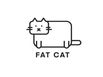 a fat cat cat logo