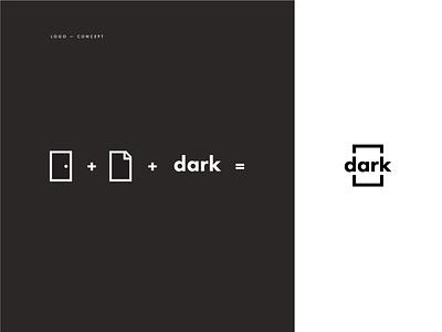 DARK Logo Concept lockup logos visual identity geometric flat identity logo branding logomark logodesign