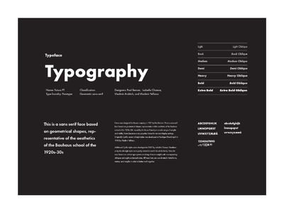 Style guide — typography futura typeface spread editorial brand guidelines layout page editorial design style guide