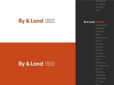 By & Land Logo Redesign logotype identity system brand refresh redesign identity logomark mark logo visual identity