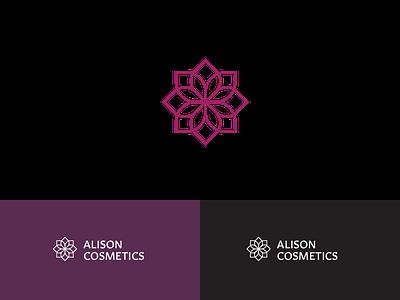 Alison Cosmetics Visual Identity design vector geometric minimal flat icon visual identity visual design identity visual branding cosmetics logodesign logomark lockup logo mark wip
