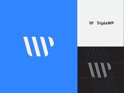 TripleWP wip visual identity logomark logodesign minimal icon mark logo lockup identity geometric branding design