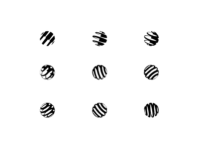 R Visualization Mark Exploration Proces spheres wip logomark identity design flat geometric icon logodesign logo design identity design idendity visual identity branding lockup mark logos logo