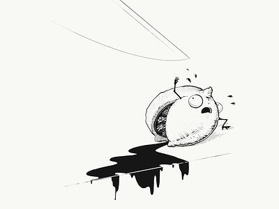 When Life Gives You Lemons linework black and white procreate illustration