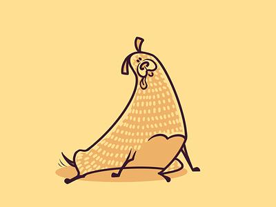 A Dog's Life flat colour linework procreate illustration