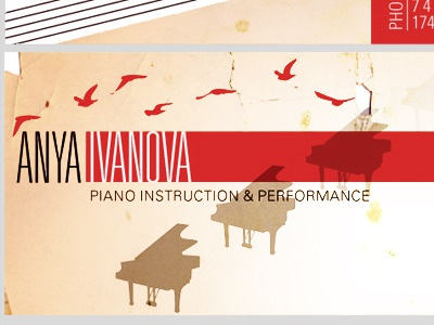 Pianist Business Card Back By Eva Crawford Dribbble Dribbble