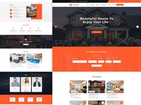 Rent House Home Page Design home sale home rent graphicdesign designer concept construction properties rent app illustration dashboard ui creative design app design graphic design typography design website