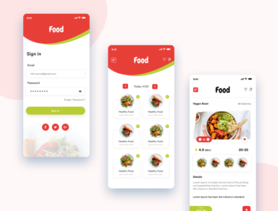 Food App food app ui icon vector creative  design dashboard ui app design app ui ux design website