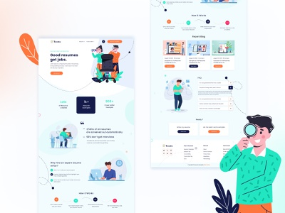 Resume website landing page design concept clean design 2021 trends design website design template design mobile app design creative designer ux logo branding creative design illustration typography dashboard ui app design design website