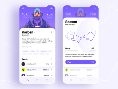Mobile gaming - App concept figma pink graphic graphic design clean concept flat minimal ux ui design app game mobile
