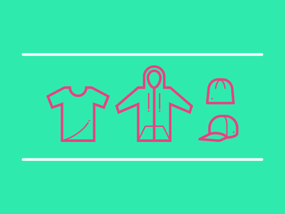 Clothing clothing icon line simple