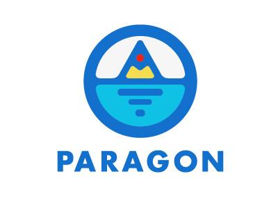 Paragon Logo logo paragon school simple mountain water badge icon seal