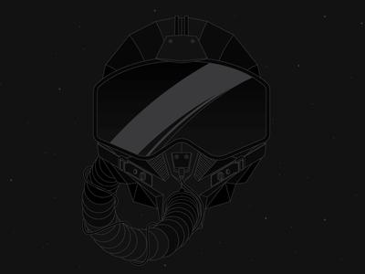 Jet Fighter grey black glare fighter jet vector drawing dark helmet
