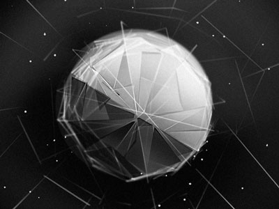 HEX Object thumbnail particles space sphere blackandwhite noise photoshop drawing ashthorp hex design ui