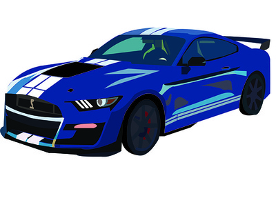 2020 Ford Mustang GT500-520 advertisement vector illistrator graphic design
