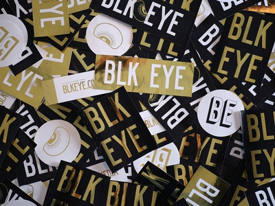 Blk Eye Stickers