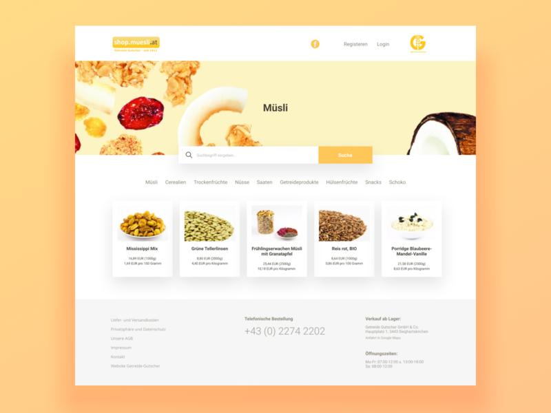 Muesli Online Store Redesign Concept