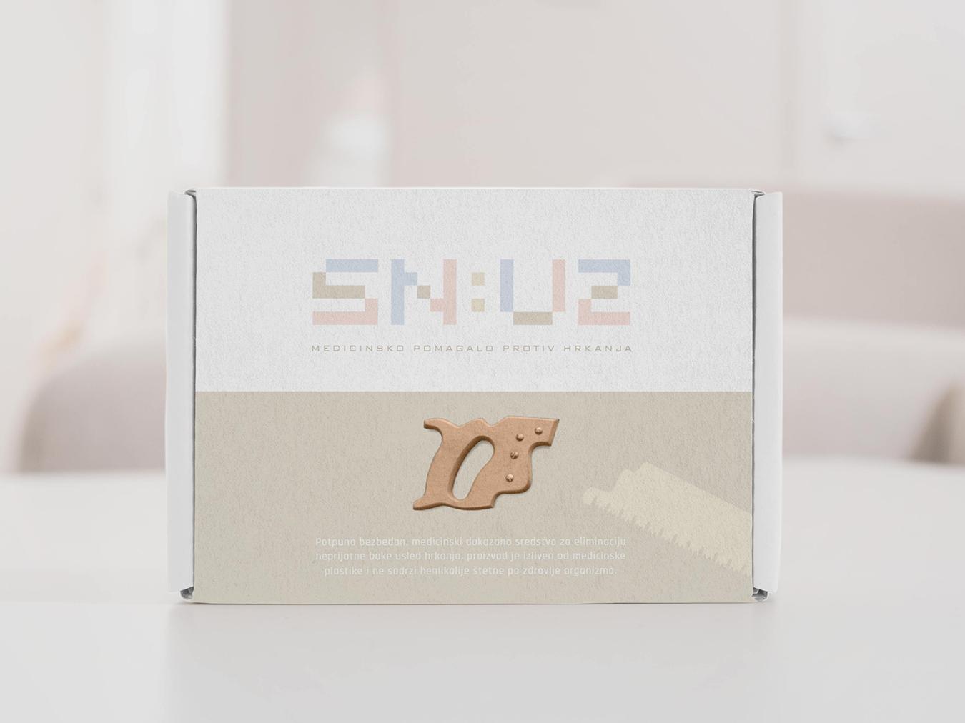 SN:UZ saw packaging logotype graphic design