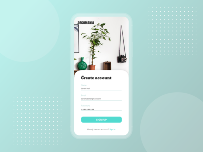DAILY UI #1 — Sign Up
