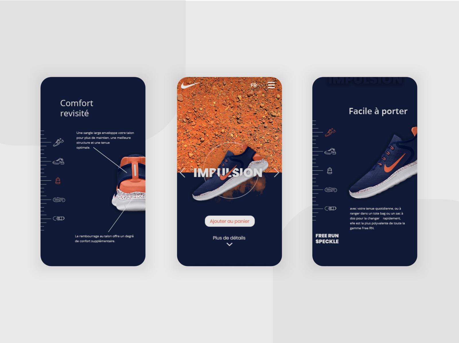 design de qualité 0b40b 6bd89 Nike website : mobile version by Oriane Df on Dribbble