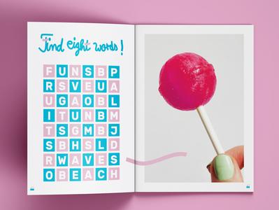 JAUNTY MAGAZINE fun reading grafikdesigner summer beach jauntymagazine brochuredesign magazinedesign crossword lollipop graphicdesigner illustrator brochure magazine book grafikdesign photoshop indesign hamburg graphicdesign