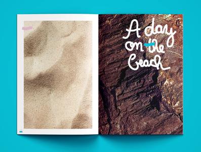 JAUNTY MAGAZINE sunny summer rock sand reading magazinedesign brochuredesign photography strand beach graphicdesigner illustrator brochure magazine book grafikdesign photoshop indesign hamburg graphicdesign