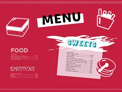 EHH RESTAURANT sweets food canadian magazine brochure indesign grafikdesign hamburg graphicdesign branding brand restaurant menükarte menükarte menü menu design menu card menu