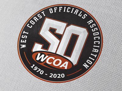 WCOA 50th Anniversary Logo icon design branding logo