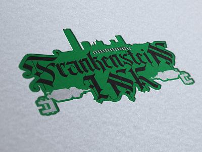 Frankenstiens Ink graphic design tattoo shop tattoo design logo branding