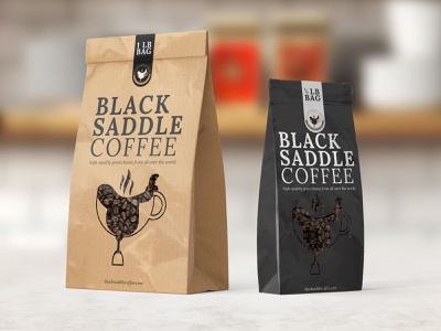 Black Saddle Coffee packaging design coffe graphic design packaging design logo branding
