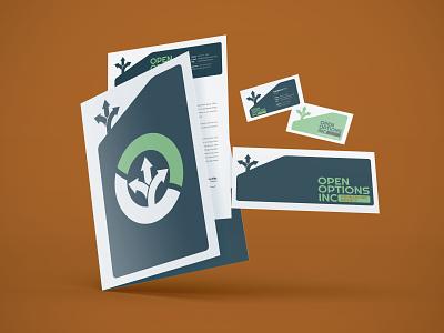 Open Options Inc Branding stationery design stationery counseling graphic design logo design branding