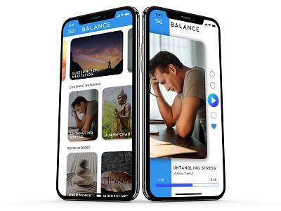 Balance - Meditation App Design concept design mobile app design mobile mobile app balance meditation app meditation calm app ux ui design