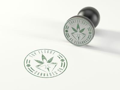 Top Flight Cannabis Co. Logo dispensary marijuana cannabis graphic design logo branding design