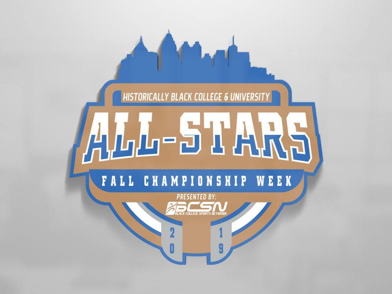 BCSN Fall All Star logo atlanta broadcasting hbcu college sports graphic design logo branding design