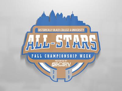 BCSN Fall All Star logo atlanta broadcasting hbcu college sports graphic design logo branding design