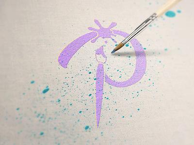Imperfect Paint Logo logo design brand identity brand design parties party paint graphic design logo branding design