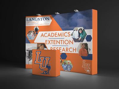 Langston University Display Banner hbcu display banner display banner graphic design design