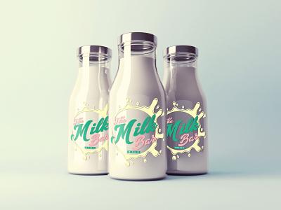 The Milk Bar Logo bar milk baby hospital breastfeeding mothers mom logo graphic design branding design