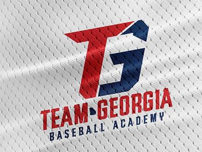 Team Georgia Baseball Academy baseball cap baseball logo baseball type georgia sports logo sports logo graphic design branding design