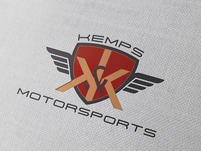 Kemps Motorsports Logo bike bike logo motorsports logo motorbike motorsport logo graphic design branding design