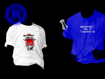 T Shirts design  \ Shchos` ta y Nichogo Case, 2020 logo product print digital collage art illustration typography graphic design branding
